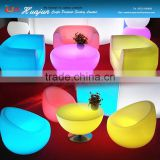 led illuminated nightclub furniture sofa / color changing sofa