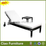 Hot sell black wicker lounger with wheels bathtub lounge chair