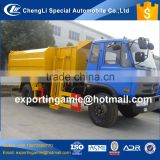 6 wheeler best quality 4x2 dongfeng recycled plastic garbage container lift trucks
