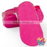 Solid Color Comfort Shoes Baby Girls Prewalker Shoes With Flower