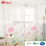 design curtains flower designs print ready made digital curtains with loops,,voile fabrics