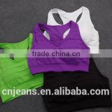 GZY 2015 wholesale hot sell girl sport seamless hot sex women's sports bra xxx