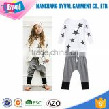 kids printed t shirts boys beach suit 100% cotton tshirts shorts summer wear whosale