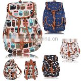 New Women Girl Canvas Rucksack Vintage Flower Backpack School Book Shoulder Bag SV004106#