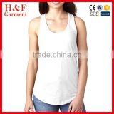 White tank top athletic sports wife beater base layer dry fit tank top
