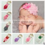 2014 Gorgeous fashion Accessories Wholesale Big Flower elastic headband for baby Girls' Accessories