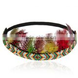 Indian Cacique Feather Headdress Carnival Headgear Headband Headpiece Party