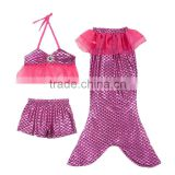 Baby girls mermaid swimming suits with bow sets mermaid bathing suit kids and children Mermaid swimsuit sets for summer