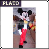 2017 hot sale plush costume cartoon character/popular large mouse mascot costume for adults
