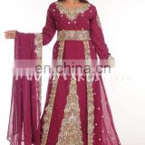 EXCLUSIVE FANCY MOROCCAN KAFTAN ARABIAN WEDDING GOWN