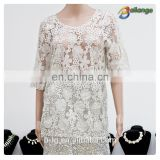 Bailange blouses & tops product type lace blouse new fashion hollow out lady viscosa blouse