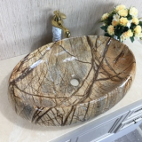 Luxury good new design ceramic sanitary ware bathroom fantastic oval tabletop wash hand color basin for hotel apartment