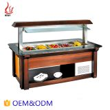 Square lift-up Marble type Counter Top Salad Bar Refrigeration display equipment
