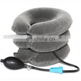 Inflatable Cervical Neck Cervical Traction Device Brace Neck Collar Pillow Brace with Velvet, Neck & Shoulder Pain Relief