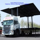 9.6 m  roadshow  LED mobile advertising stage truck for sale