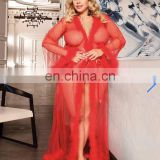 2020 Women Transparent Hot Night Romantic Sexy See Through Mesh Ladies Gown Sleepwear