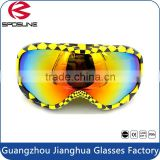 Best custom logo polarized lens eye wear safety snow sports goggles with high impact resistance