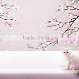 Custom Transparent Cute Wall Decal Wall Stickers Removable Cherry Blossom Wall Decal                                                                         Quality Choice