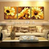 China home decor wholesale Painted pictures sunflower oil canvas flower oil painting wall art decor paintings art modern house