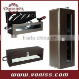 Wine Carrier Leather Bag Wine Bottle Show Box Wine Leather Holder With Transparent Windows Wine Tool Accessories