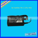 19v 2.37a 45w ac adapter power charger for Toshiba Portege Z830 Z835 adapter 5.5mm*2.5mm