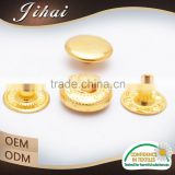 Garment Gold Fastener Buttons Press Double Screw Metal Snap Button