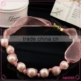 High Quality Popular Beautiful The Bride Jewelry Korea Pearl Wedding Romantic Sweet Jewelry Lace Necklace