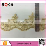 Boka 2015 Gorgeous Gold Polyester Lace Sewing Trims Flower Applique