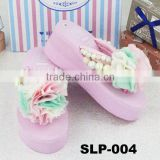 Hawaii Style DIY Flower nice women nude beach slippers