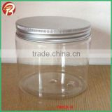 500ML clear PET plastic jar with aluminum cap TBNCB-16