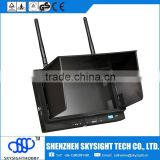Sky-702 7inch FPV Monitor/ Displayer Built-in li-po battery 5.8G Diversity Dual Receiver with Folding Sunshade for fpv drone                                                                                                         Supplier's Choice