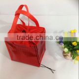 25cm x 25cm x 20cm PP non woven silver-red lamination lunch bag