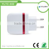 Wholesales quick portable High Quality 5V 2.4A dual usb car charger wall charger travel charger