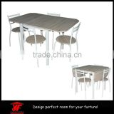 New Quality Wooden Dining Table and 4 Chairs Set Kitchen Furniture White / Brown dining set