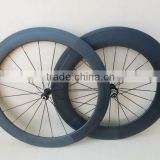 700C carbon bicycle wheel 60mm front and 88mm rear clincher combo wheelset with super light hub