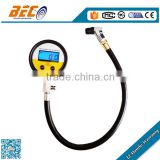 four pressure ranges rubber hose digital tyre pressure guage