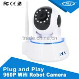 1.3MP p2p ip camera wifi wireless web kamara with antenna, speaker, microphone, no cable needed