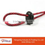 Waving textiles elastic rope with plastic buckle