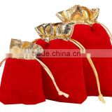 Accept custom order, Drawstring and ,Durable Eco-friendly velvet jewellery bag