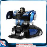 Cool Christmas present for boys! 1/24 rc wall climber car transform robot toy with lights
