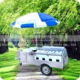 2013 Hot Selling Stainless Steel Outdoor Big Hot Dog Food Warmer Cart with Wheels Umbrella XR-HD200 B