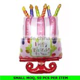 Wholesale Cake Shape Foil Balloon Kids Decorations Birthday Party Supplies