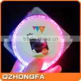 Hot sale colorful Led Bar Coaster flashing beer coaster ,waterproof LED cup coaster                                                                         Quality Choice