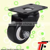 1.5inch black pu small furniture casters