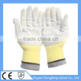 High Performance Seamless Knitted Aramid Cow Leather Coated Heat Resistant Work Gloves For Wholesale