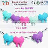New Product Soft Silicon Baby Teether Pendant Wholesale/Baby Tooth Teether