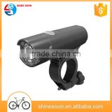 Bright battery LED Bike Light Headlight/black front bicycle light with bracket