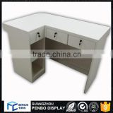 Hot sale good price wood furniture cashier counter designs for restaurant shop office
