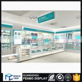 guangdong top glass wood pharmacy shop counter for display