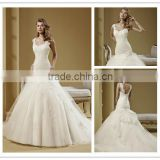 vestido de noiva 2016 New fashion sweetheart neckline high quality lace mermaid wedding dress DM-026 vintage wedding dresses